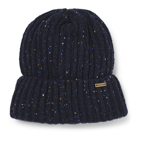 Barbour Men's Tyne Turnback Beanie Hat - Navy Mix