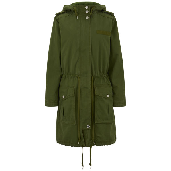 Marc by Marc Jacobs Women's Cotton Parka - New Fatigue Green