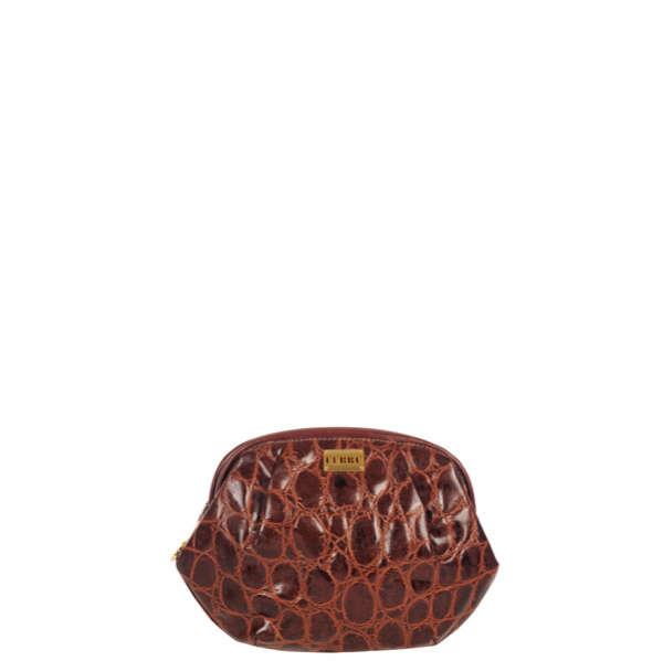 80b5c73efb Gianfranco Ferre Vintage Leather Croc Effect Frame Clutch Bag  Image 1