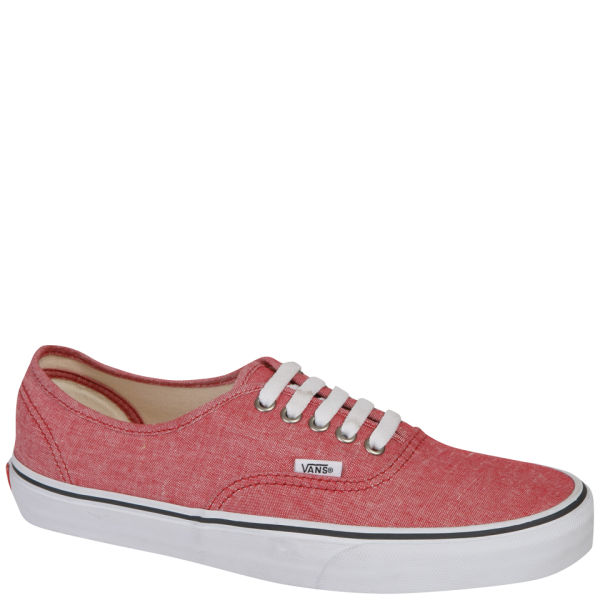 Vans Authentic Classic Chambray Trainers - Chilli Pepper