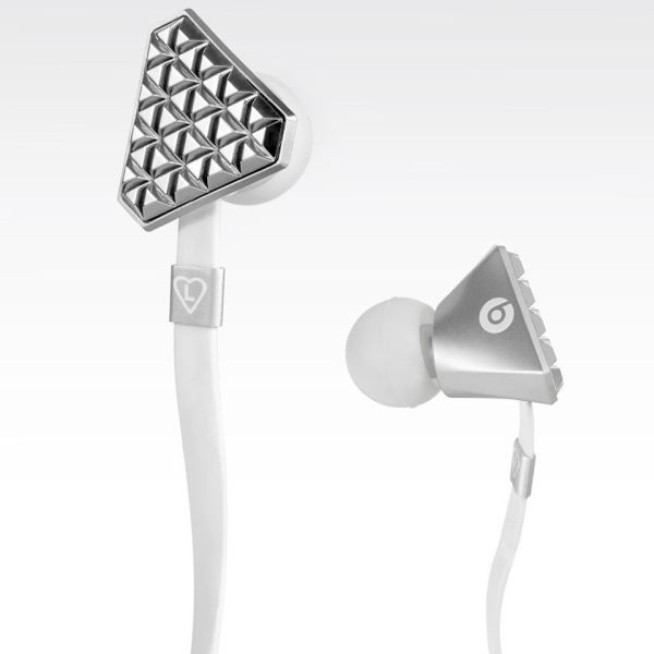 Beats by Dr. Dre Lady GaGa Heartbeats Earphones with ControlTalk - Bright  Chrome  Image 2f99313042
