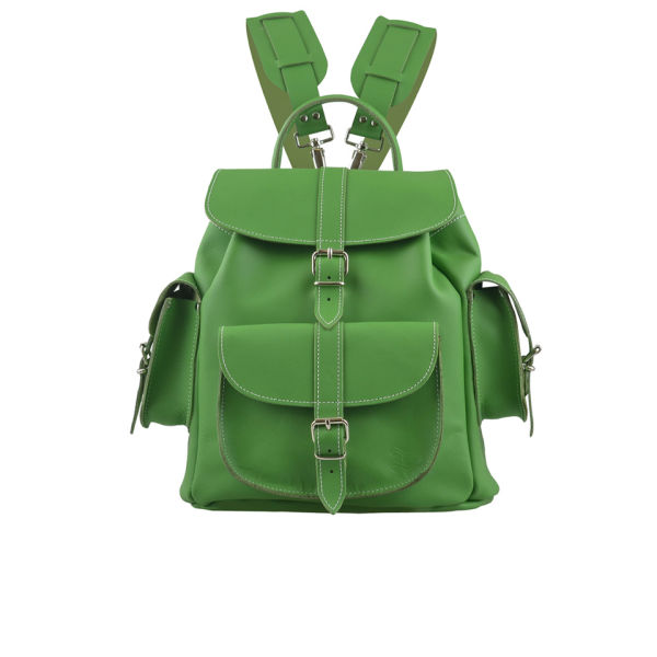 Grafea Clover Leather Backpack - Green