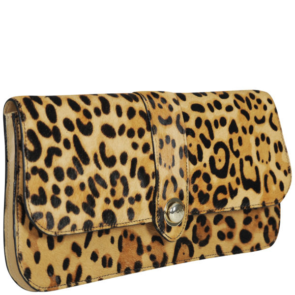 Ted Baker Olosa Leopard Print Pony Clutch Bag - Light Brown  Image 2 a67176c794c96