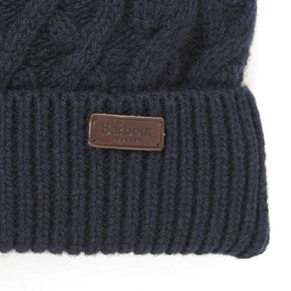 c1a20353fbf Barbour Cable Knit Beanie Hat - Navy  Image 2