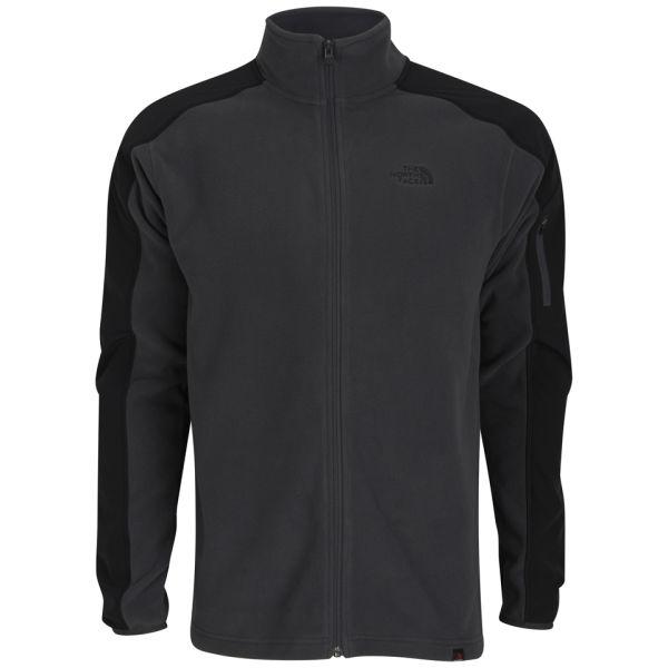 The North Face Men's Glacier Delta Full Zip Polartec Fleece - Asphalt  Grey/Black: