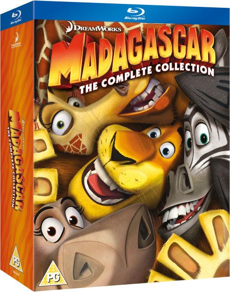 Madagascar 1 3 Box Set Blu Ray Zavvi