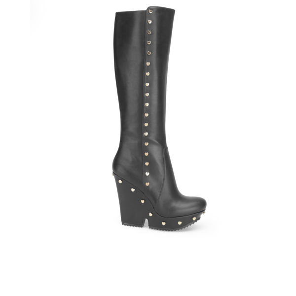 Love Moschino Women's Knee High Boots - Black