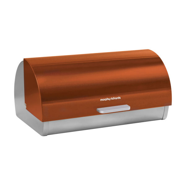 morphy richards accents roll top bread bin copper. Black Bedroom Furniture Sets. Home Design Ideas