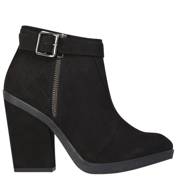 Miss KG Women's Sally Heeled Suedette Ankle Boots - Black