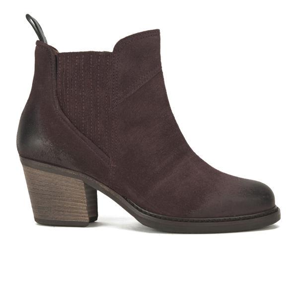BOSS Orange Women's Ivette Suede Heeled Chelsea Boots - Dark Red