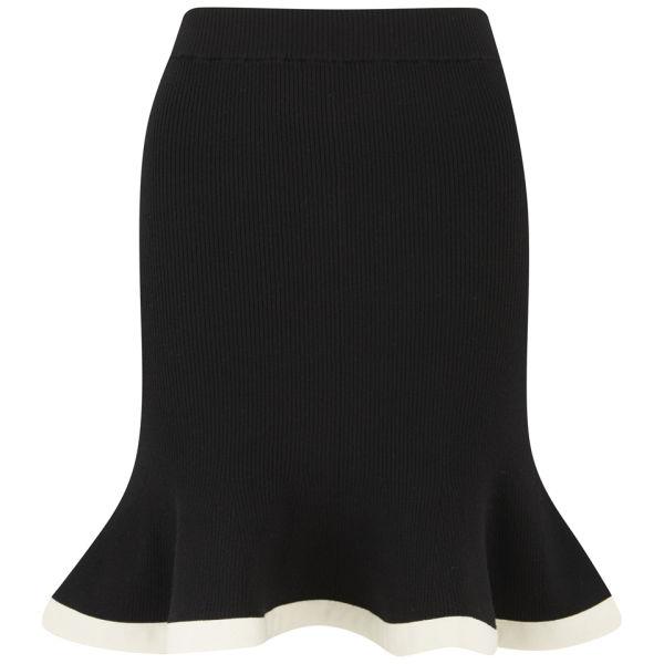 McQ Alexander McQueen Women's Peplum Knit Skirt - Jet Black