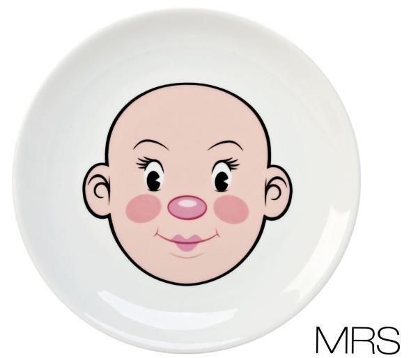 Mrs Food Face Dinner Plate  sc 1 st  Zavvi & Mrs Food Face Dinner Plate Gifts | Zavvi