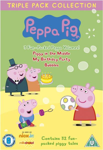 Peppa Pig Triple: Piggy in the Middle / My Birthday Party / Bubbles