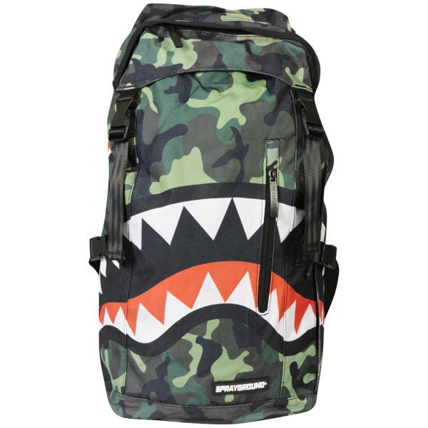 Sprayground Camo Shark Top Loader Backpack - Green/Camo