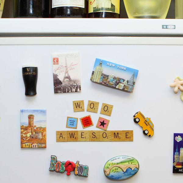 Aimants pour frigo scrabble traditional gifts - Aimant pour frigo ...