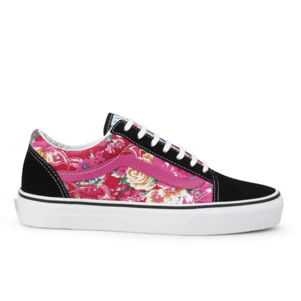 71ea38dbae Vans Women s Old Skool Multi Floral Trainers - Pink Black  Image 1