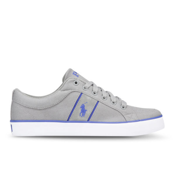Polo Ralph Lauren Men s Bolingbrook II-Ne Canvas Suede Trainers - Grey Rugby ac62920f0d
