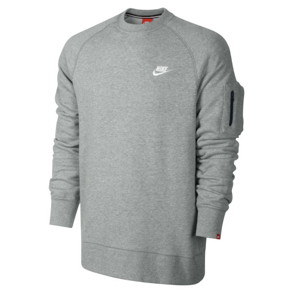 c63f6a3bc54b Nike Men s AW 77 Crew Neck Sweater - Grey Mens Clothing
