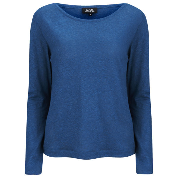 A.P.C. Women's Mariniere Long Sleeved T-Shirt - Blue