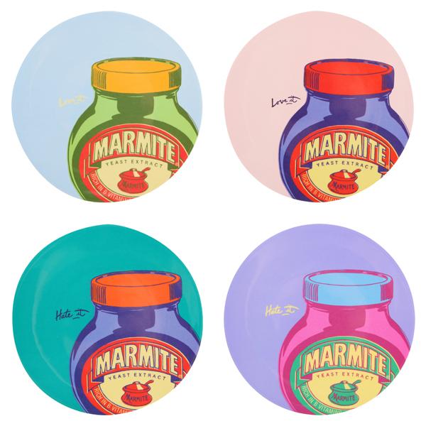 Marmite Melamine Plate Sets Homeware   Zavvi