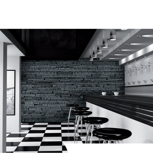 Black and grey slate effect wall mural iwoot for Black wall mural