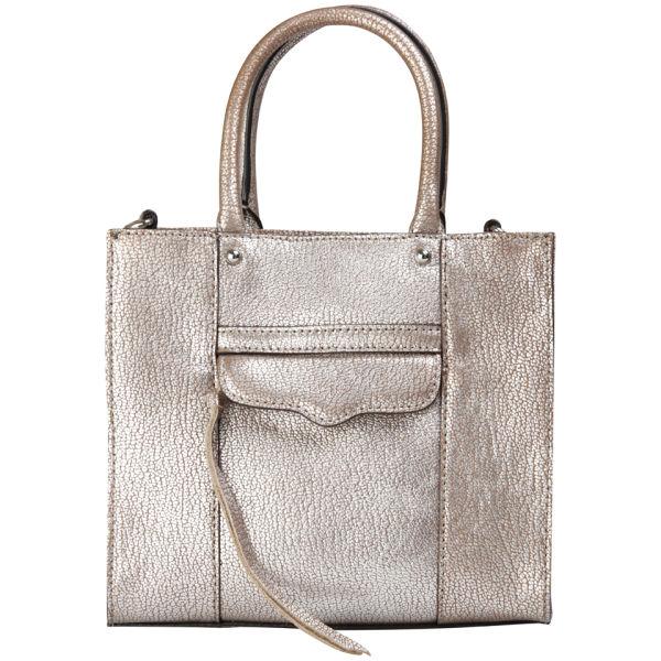 Rebecca Minkoff MAB Mini Leather Tote - Silver