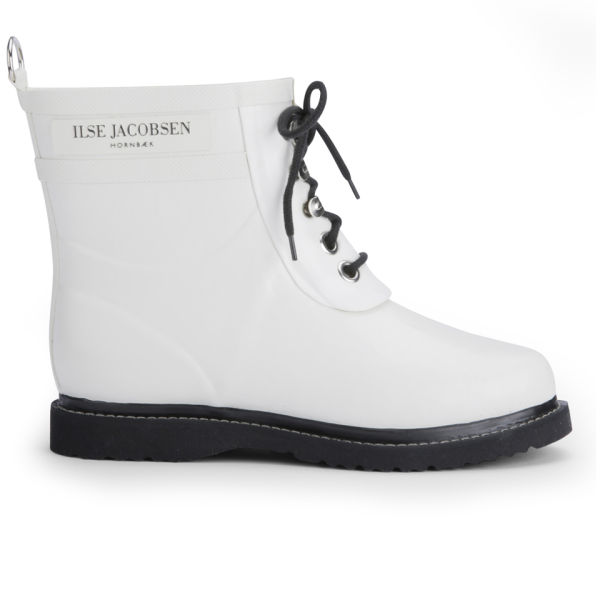 Ilse Jacobsen Women S Short Rubber Boots White Free Uk