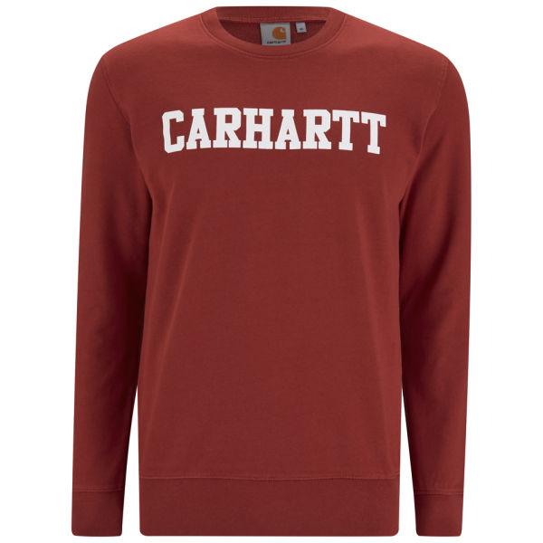 Carhartt Men's College Sweatshirt - Tuscany Red/White