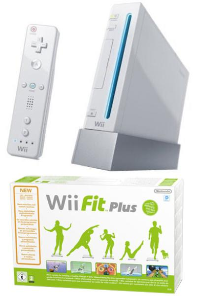 White Wii Console And Wii Fit Plus Bundle Games Consoles ...