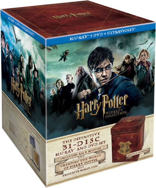 harry potter wizard 39 s collection box set blu ray dvd and ultraviolet copy blu ray. Black Bedroom Furniture Sets. Home Design Ideas