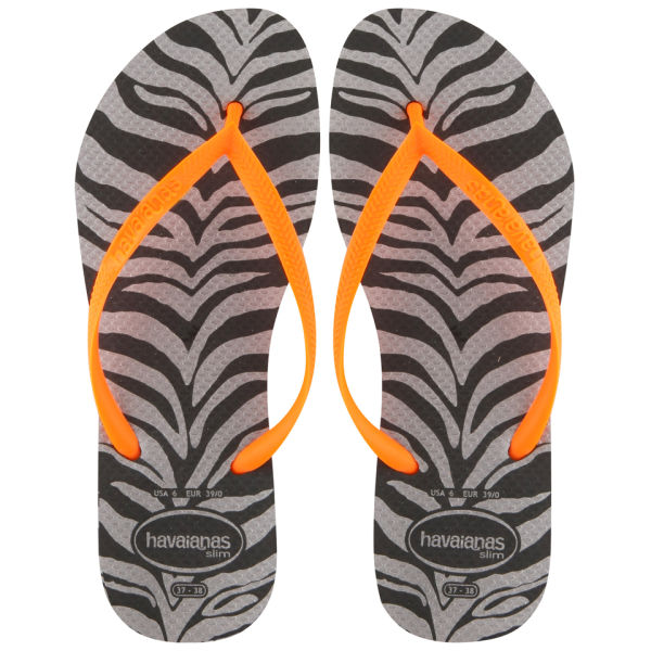8c559527cd019 Havaianas Women s Slim Animal Print Flip Flops - Zebra Clothing ...
