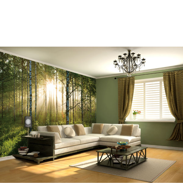 Forest Scene Wall Mural Homeware Zavvi US