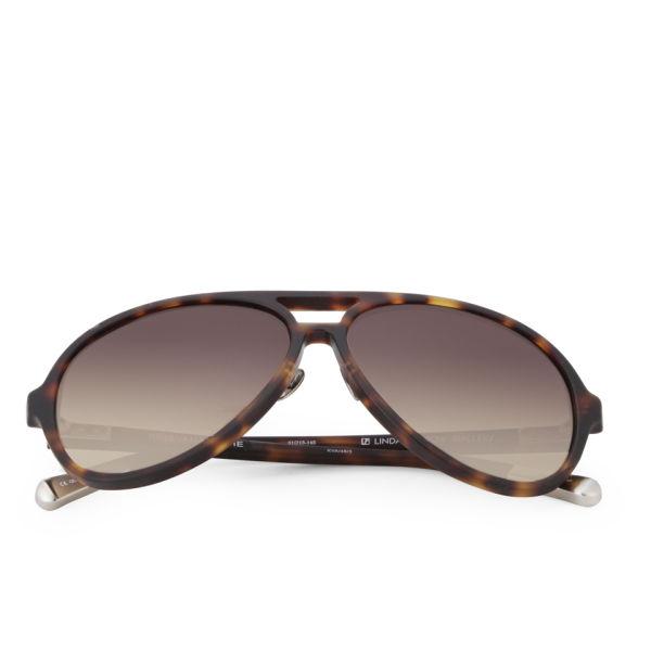 Kris Van Assche Rubberised Sunglasses - Tortoise Shell