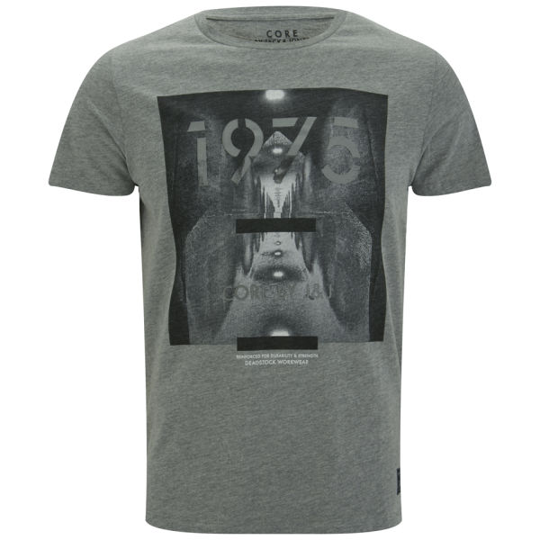 Jack & Jones Men's Mask T-Shirt - Light Grey Melange