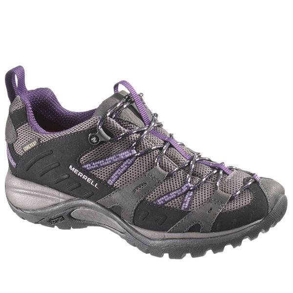 Merrell Women's Siren Sport Gore Tex Hiking Shoes - Black/Perfect Plum