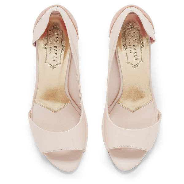 0a3b4fbd253 Ted Baker Women s Maceey Patent Leather Peep Toe Heels - Nude  Image 2