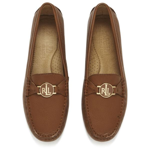34cf5571760 Lauren Ralph Lauren Women s Carley Leather Driver Shoes - Tan  Image 2