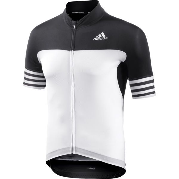 bba747d75 adidas Adistar Short Sleeve Cycling Jersey - White Black Sports ...