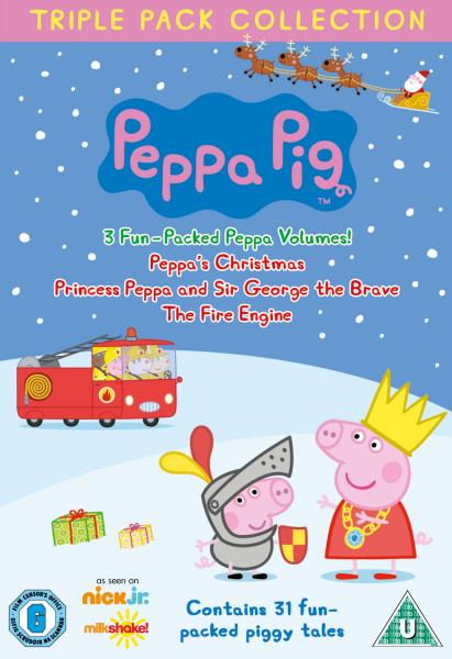 Peppa Pig - Triple Pack (Princess Peppa / Fire Engine. / Xmas)