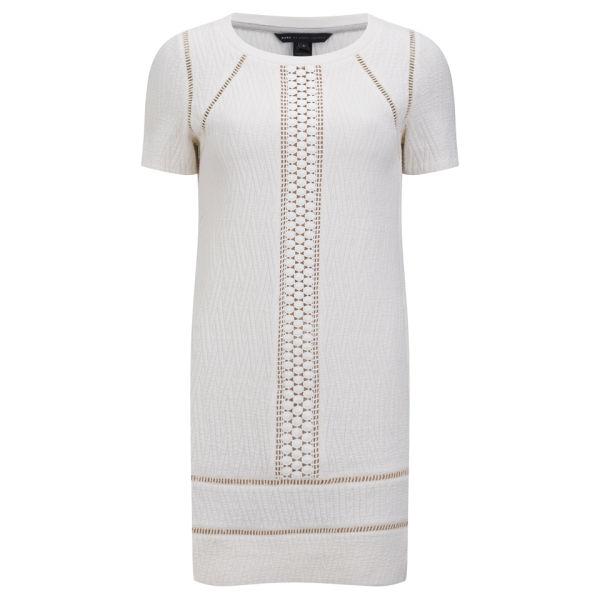 Marc by Marc Jacobs Women's Trim Detail T-Shirt Dress - Antique White