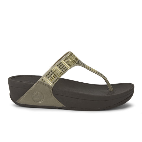 FitFlop Women's Aztek Chada Leather Sandals - Pebble