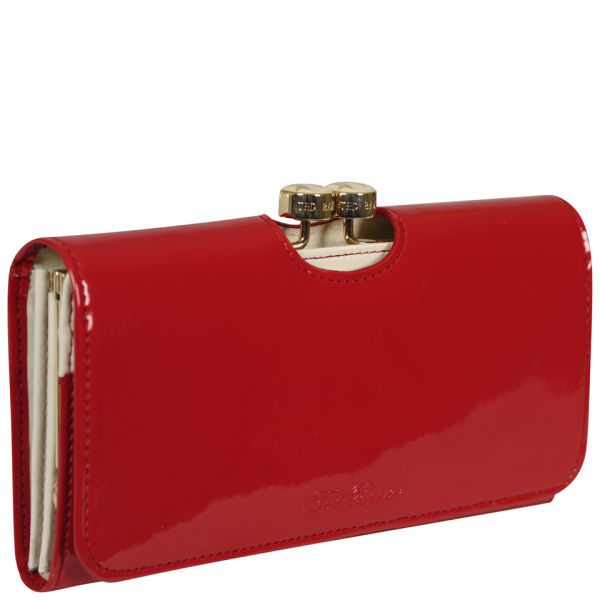 Ted Baker Maggye Bow Bobble Leather Matinee Purse Red