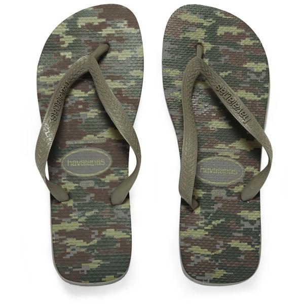 8fe47322d5c2 Havaianas Men s Camouflage Top Flip Flops - Green  Image 1