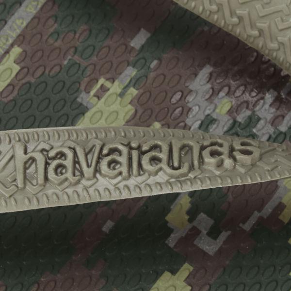 788481db7f44 Havaianas Men s Camouflage Top Flip Flops - Green  Image 4