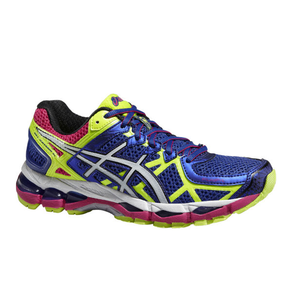 a9c9acc4994f Asics Women s Gel Kayano 21 Structured Cushioning Shoes - Blue White Flash  Yellow
