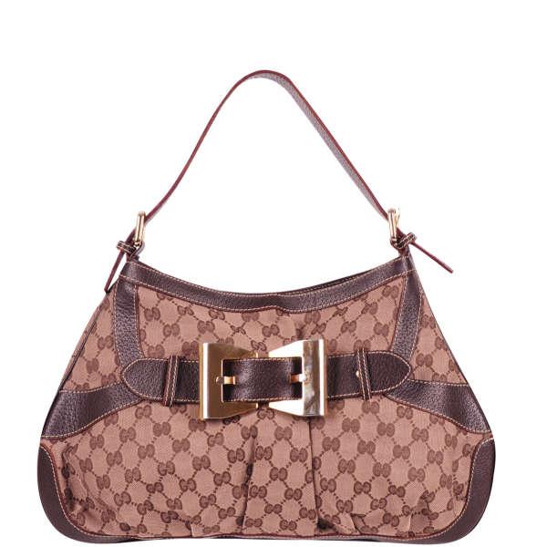 1108d05875770 Gucci Vintage Buckle Front Shoulder Bag  Image 1