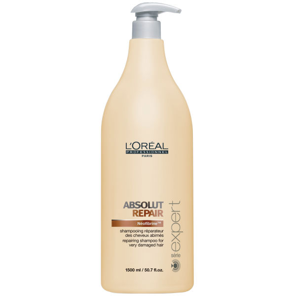 L'Oreal Serie Expert Absolut Repair Shampoo (1500ml) and Pump