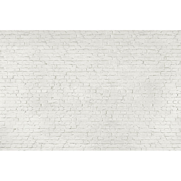 Distressed White Brick Wall Mural: Image 2 Part 26