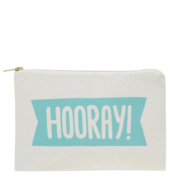 Alphabet Bags 'Hooray' Canvas Pouch - Cream