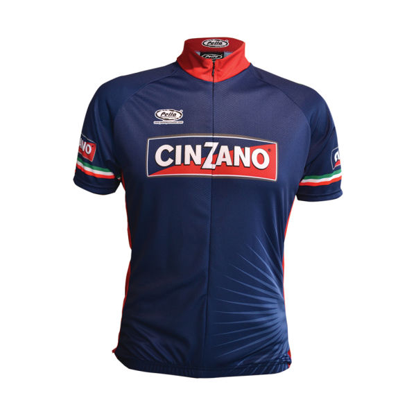 Pella cinzano short sleeve jersey blue probikekit uk for Unique home stays jersey